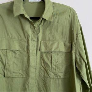 Twik Khaki Utility Organic Cotton Button Up Shirt